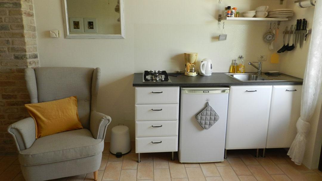 de keuken van appartement Sole